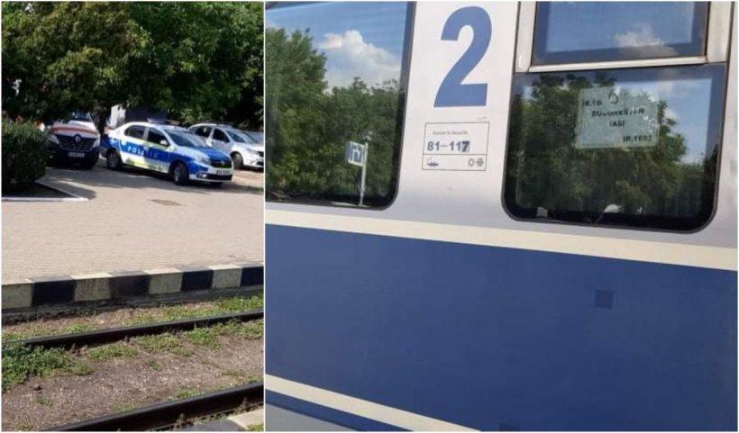 """Un bărbat din Botoşani a murit în tren, lângă soţie. Ambulanţa Vaslui: """"Femeia credea că el doarme"""""""