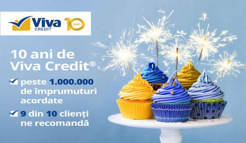 CONCURS: Viva Credit sărbătorește 10 ani de la primul împrumut acordat 100% online