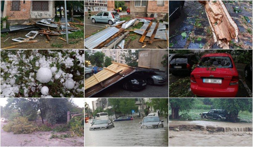 """Ploile abundente şi vijeliile au făcut prăpăd în România: """"Nu am mai văzut aşa ceva, ne-am speriat"""""""