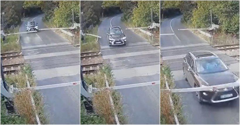 Şoferul beat care a rupt barierele de cale ferată de la Brănești și după o oră s-a răsturnat cu maşina este un medic din Capitală