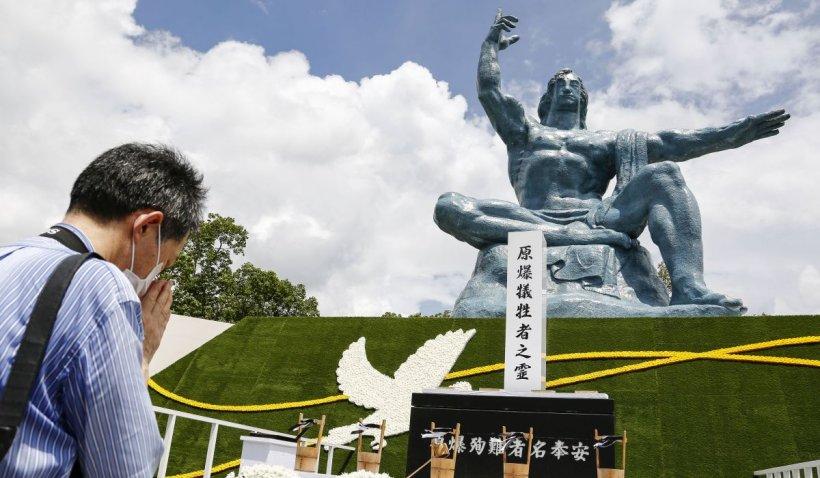 Comemorare discretă la Nagasaki, la peste trei sferturi de veac de când orașul a fost distrus în al doilea bombardament atomic din istorie