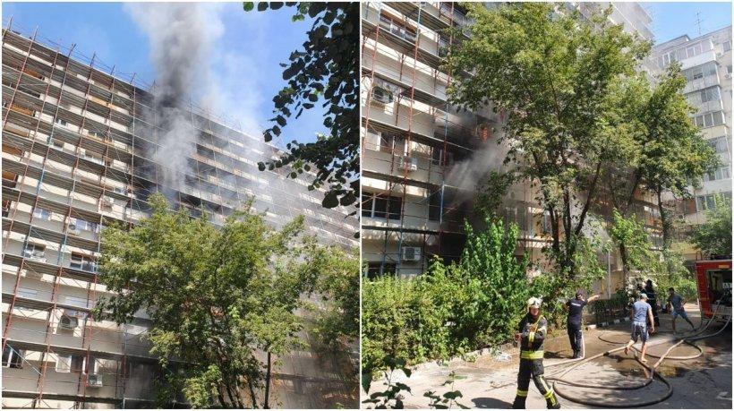 Bucureştenii care au rămas fără locuinţe în urma incendiului din Sectorul 5 au fost cazaţi la hotel