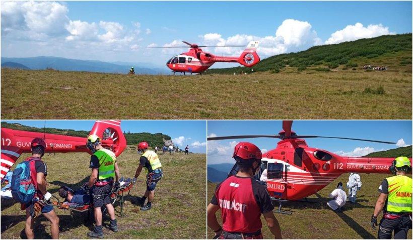 Un elicopter SMURD a preluat un turist care prezenta probleme grave respiratorii la cabana Dochia