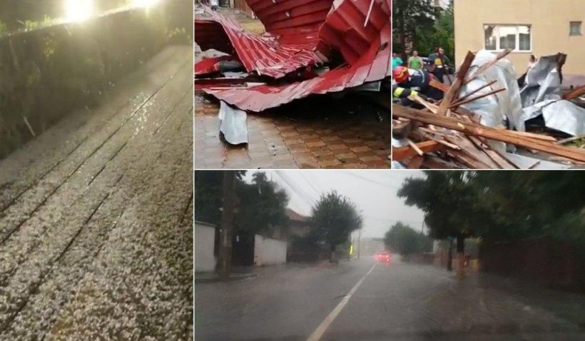 Fenomene meteo extreme au adus vijelii puternice şi ploi torenţiale în mai multe judeţe din ţară