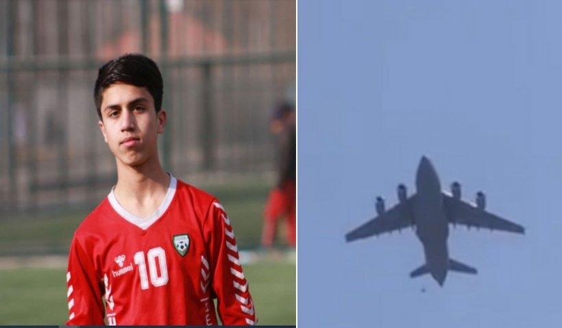 Un junior al echipei naționale de fotbal din Afganistan a murit zdrobindu-se de pista aeroportului din Kabul, după ce a căzut de pe un avion american