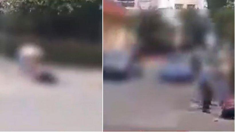 Tânără bătută cu bestialitate în mijlocul străzii, de două femei