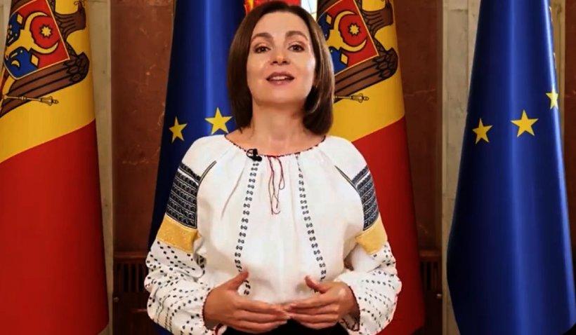 """Ziua Limbii Române 2021. Maia Sandu: """"Limba română poate fi patria tuturor cetăţenilor noştri"""""""