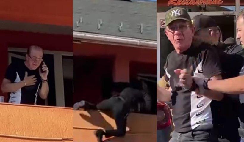 Un bărbat a amenințat că se aruncă de la balconul unei pensiuni, în Baia Mare