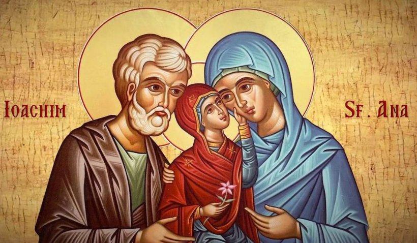 Calendar ortodox 9 septembrie 2021. Sărbătoare cu cruce neagră de Sfinţii Părinţi Ioachim şi Ana