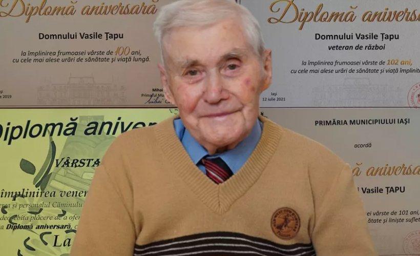 """Un ieșean de 102 ani a mărturisit secretul longevității sale. """"Am o rutină în fiecare zi"""""""