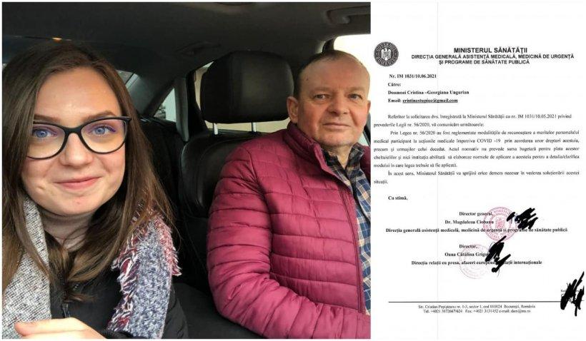 """Emanuel Ungureanu: """"Cristina Stupiuc, copilul primului ambulanțier din România care a murit de COVID, bătaia de joc a ministerului Sănătății"""""""