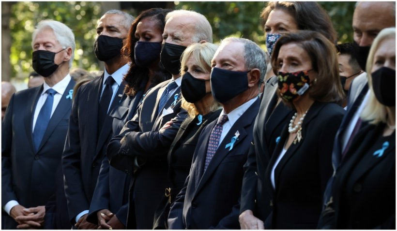 Moment de reculegere în New York, la 20 de ani de la atacurile teroriste din 11 septembrie. Joe Biden este alături de Barack Obama și Bill Clinton