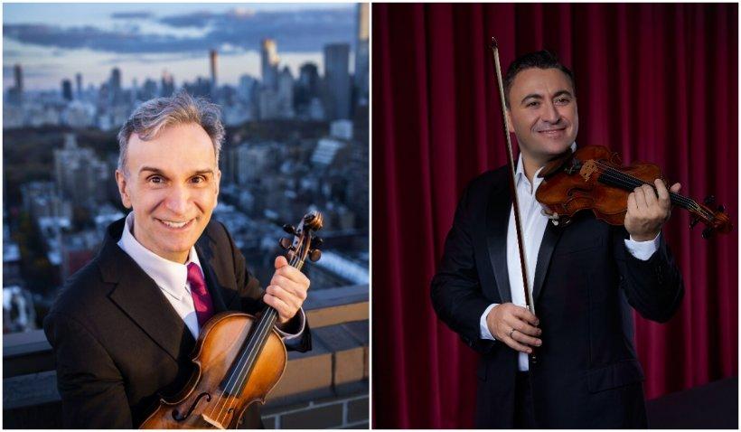 Doi mari violoniști ai lumii, Gil Shaham și Maxim Vengerov, încântă publicul din România cu talentul și viorile lor Stradivarius