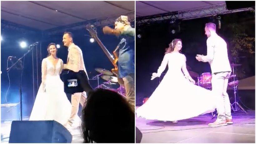 Mireasa furată şi dusă pe scenă, la un concert în Buzău