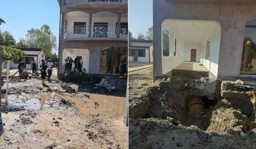 Conducta care alimentează Craiova cu apă s-a spart chiar sub o casă construită fără autorizaţie în Ţânţăreni, Gorj