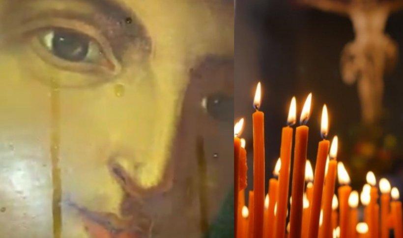 Icoana Maicii Domnului dintr-o biserică din Gorj a început să lăcrimeze