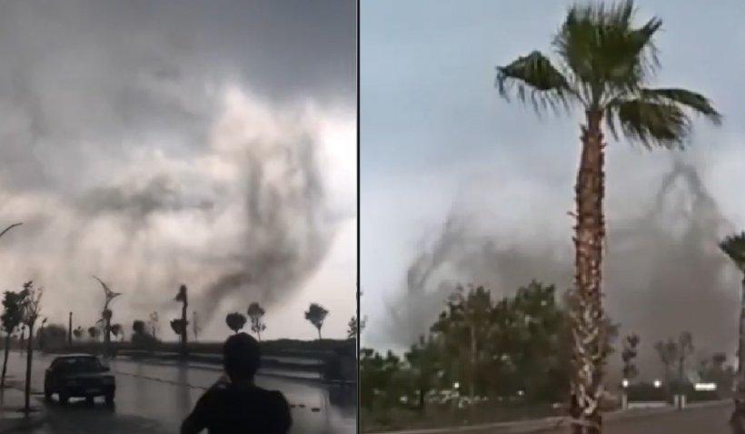 Imagini apocaliptice cu tornade în două provincii din Turcia