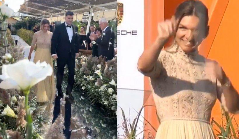 Simona Halep a spus DA. Primele imagini de la nunta cu milionarul Toni Iuruc