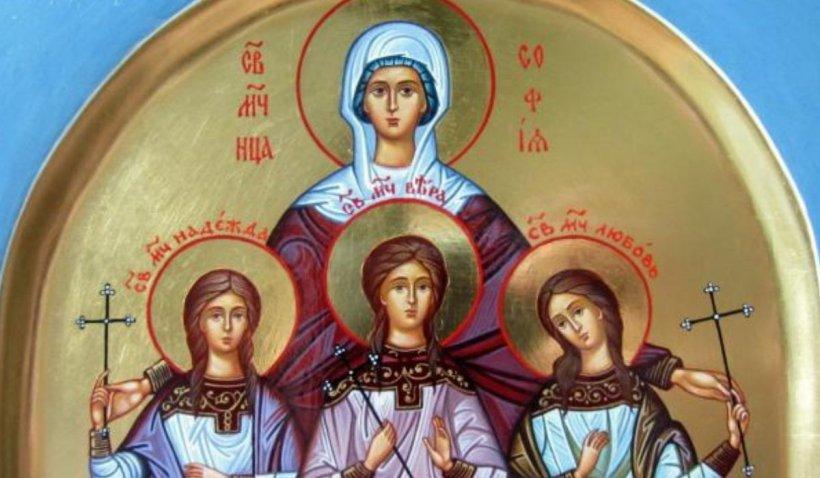 Calendar ortodox 17 septembrie 2021. Sărbătoare cu cruce neagră de Sfânta Sofia