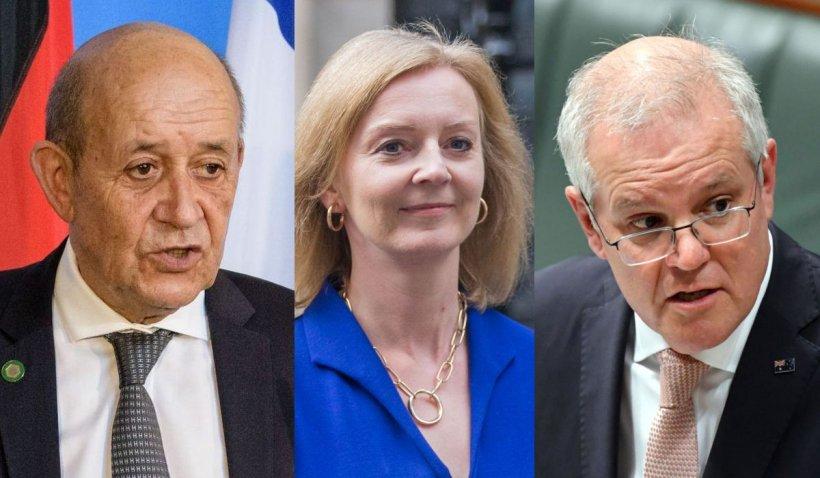 """Scandalul submarinelor, faza pe insulte. Britanicii, numiți """"a cincea roată la căruță"""" și """"oportuniști"""" de ministrul francez de externe"""