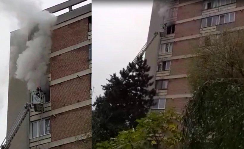 Un bărbat a fost găsit carbonizat într-un apartament cuprins de flăcări din Târgu Mureș