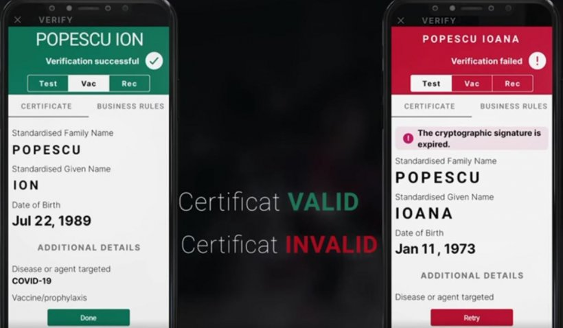 Aplicaţia pentru verificarea certificatelor verzi a fost lansată. Cum funcționează