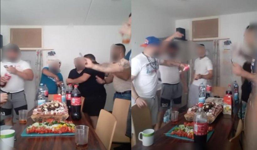Deținuți români în Viena, petrecere cu manele, mâncare și băutură