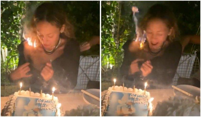 Părul unei cunoscute actrițe americane a luat foc în timp ce sufla în lumânările de pe tortul de ziua ei