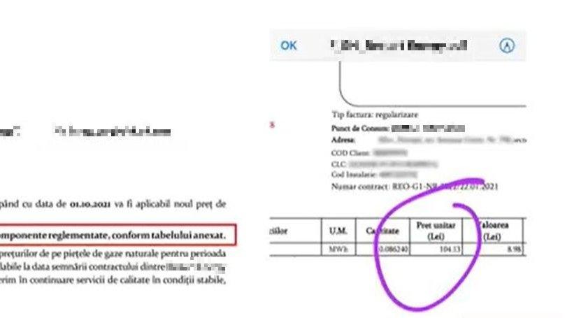Factură mai mare la gaze cu 110%, începând cu 1 octombrie, trimisă de un telespectator Antena 3