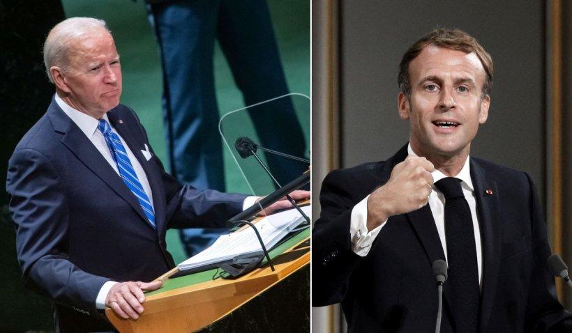 Joe Biden și Emmanuel Macron, prima discuție după scandalul submarinelor
