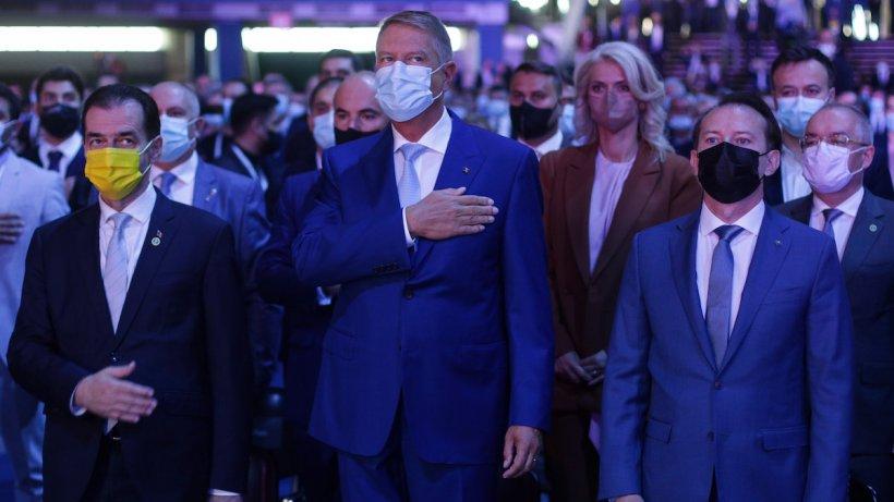 """Congres PNL septembrie 2021. Cîțu, răgușit, atac la Orban: """"Eu nu voi purta niciodată o geacă pe care scrie """"Votați PSD"""""""