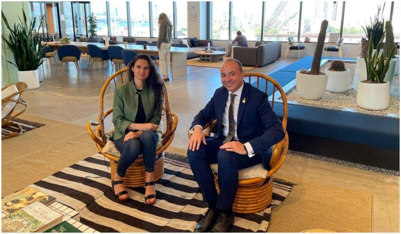 """Ambasadorul României în SUA, întâlnire cu cel de-al doilea """"unicorn"""" românesc. """"Nu e de mirare că a fost remarcată de Steve Jobs"""""""