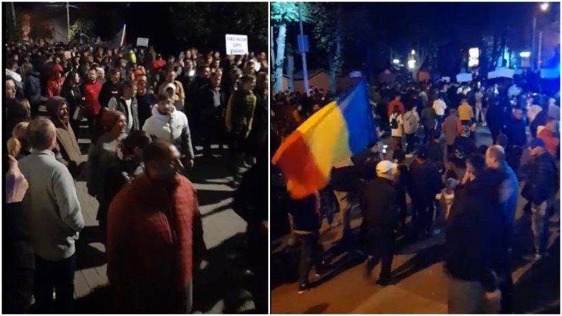 Incident la protestul de la Rădăuţi. Jandarmii au folosit gaze lacrimogene