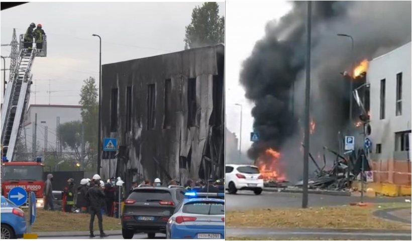 Un avion românesc s-a prăbuşit lângă Milano. Opt morţi, printre care doi români