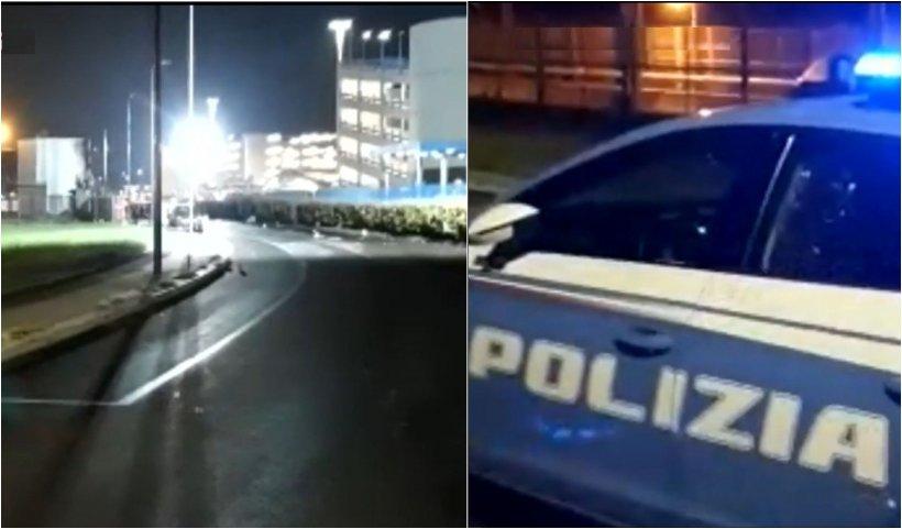 Imagini de la locul unde s-a prăbuşit un avion românesc la Milano