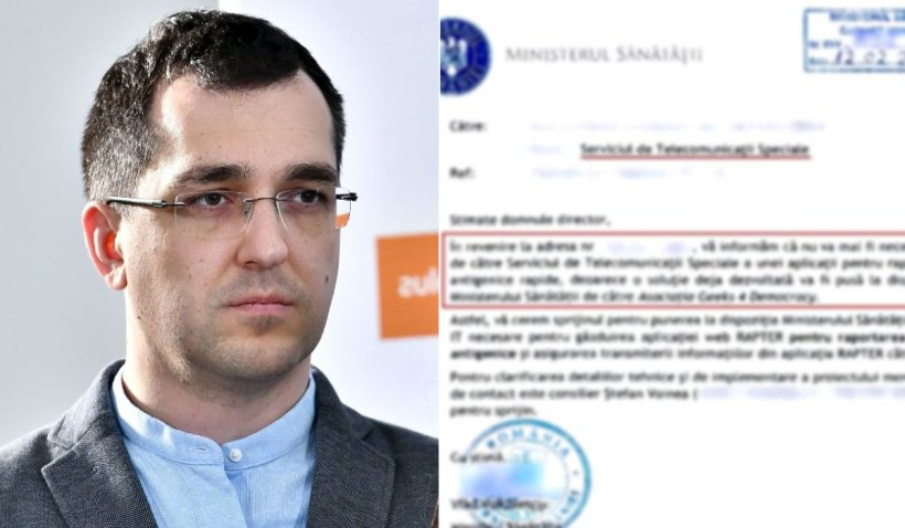 Documentul semnat de Vlad Voiculescu, prin care a dat datele personale ale românilor testați către un ONG