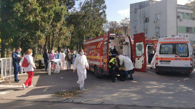 Încă un bolnav salvat din incendiul de la Spitalul Constanța a murit. Este a 11-a victimă