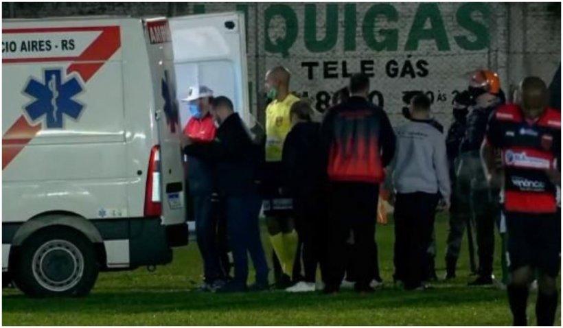 Fotbalist brazilian, acuzat de tentativă de omor după ce a bătut un arbitru