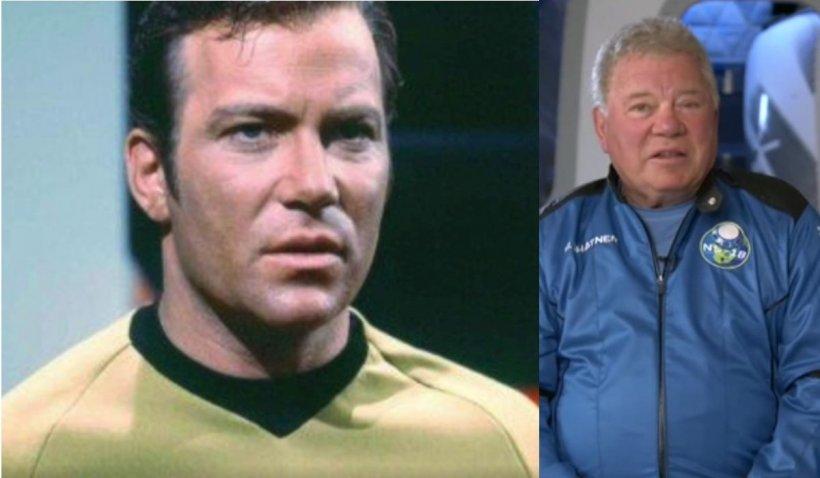 """Căpitanul Kirk din """"Star Trek"""" a dezvăluit de ce pleacă în spațiu la 90 de ani, într-o zi de 13, la bordul navei lui Jeff Bezos"""