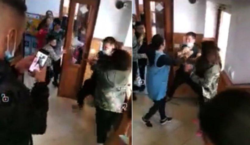 Bătaie cruntă între un băiat şi o fată, încurajaţi de colegi, la o şcoală din Târgovişte