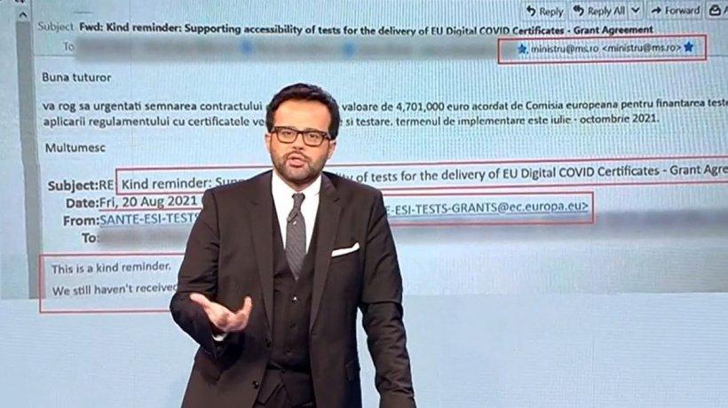 Documentul care arată că România a pierdut 4.700.000 euro de la UE pentru teste