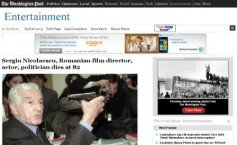 "Sergiu Nicolaescu's death reported in the international media. ""A prolific Romanian director passed away""."