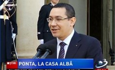 Victor Ponta, at the White House. Romania's Prime Minister and  Joe Biden  to discuss US visa liberalization