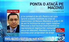 Ponta: The biggest mess of this year has just occurred - Macovei compared herself with Nelson Mandela