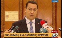 Ponta: We have obtained for Romania the best portfolio in the EC. Iohannis and  Blaga, two pathetic and irresponsible politruks