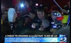 A Romanian won 15.000 lei, after betting that Iohannis would win the elections