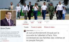 Ponta, message on Twitter in French: I am deeply shocked by the attack in Paris