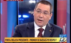Victor Ponta: The President-Prime Minister relationship is based on respect. I represent those who voted me and, equally, those who did not vote for me