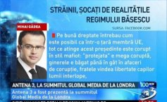 Mihai Gâdea, at the Global Media Summit in London: Foreigners, shocked by the realities of the Băsescu regime