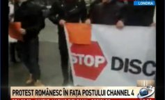 UPDATE. Romanians rally in front of the Channel 4 headquarters